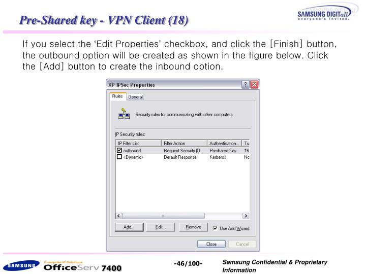 Pre-Shared key - VPN Client (18)