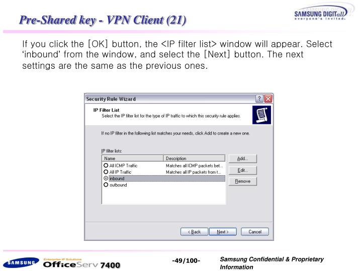 Pre-Shared key - VPN Client (21)