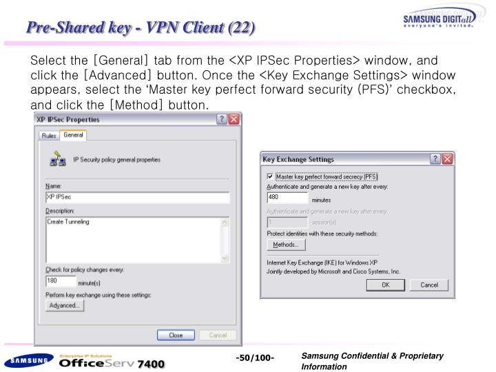Pre-Shared key - VPN Client (22)