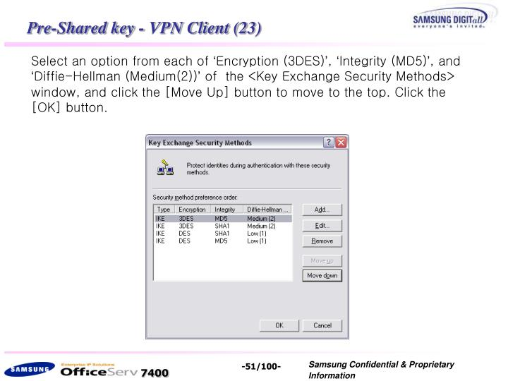 Pre-Shared key - VPN Client (23)
