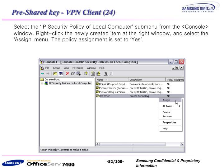Pre-Shared key - VPN Client (24)