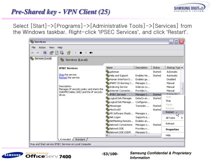 Pre-Shared key - VPN Client (25)