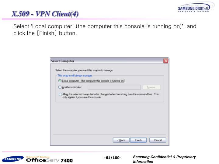 X.509 - VPN Client(4)
