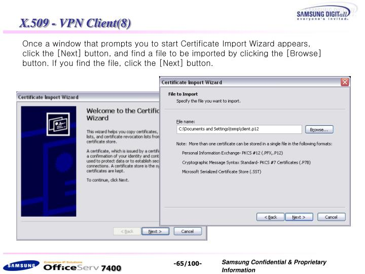 X.509 - VPN Client(8)