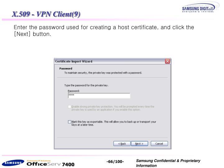 X.509 - VPN Client(9)