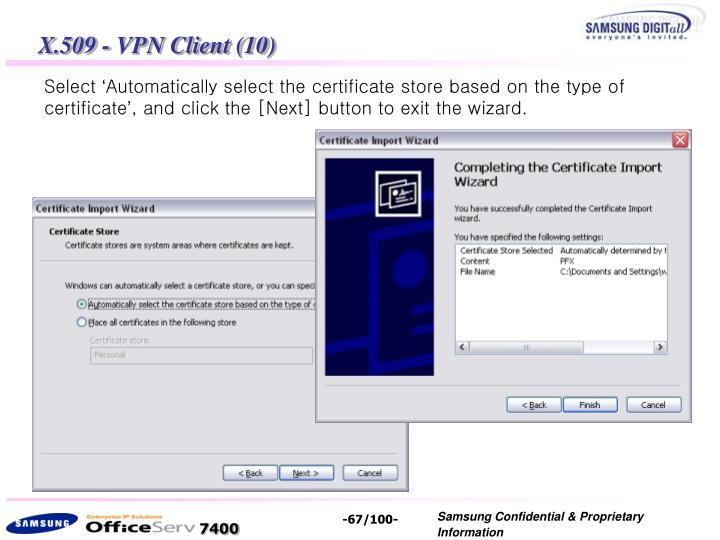 X.509 - VPN Client (10)