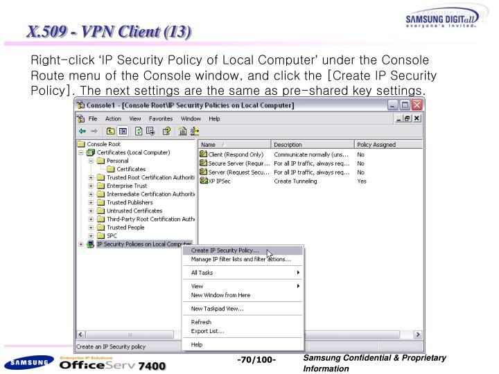 X.509 - VPN Client (13)