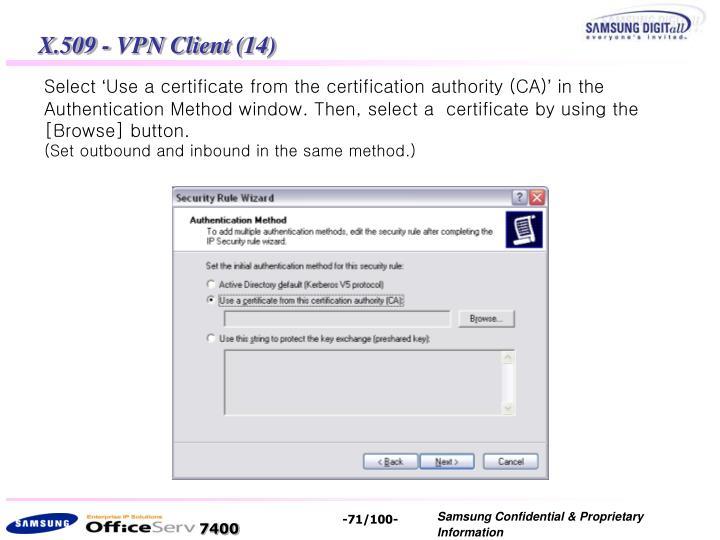 X.509 - VPN Client (14)