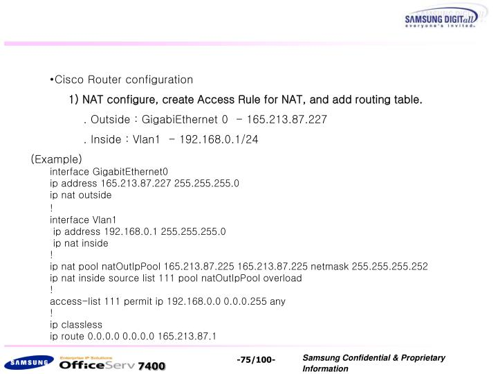Cisco Router configuration