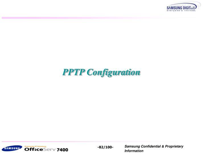 PPTP Configuration