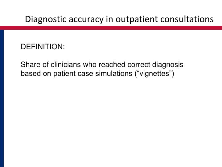 Diagnostic accuracy in outpatient consultations
