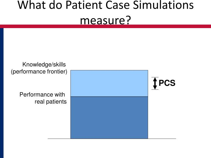 What do Patient Case Simulations measure?