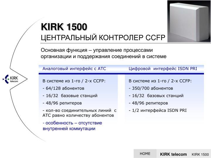 Аналоговый интерфейс с АТС