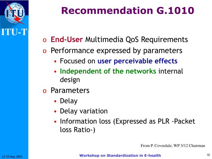 Recommendation G.1010