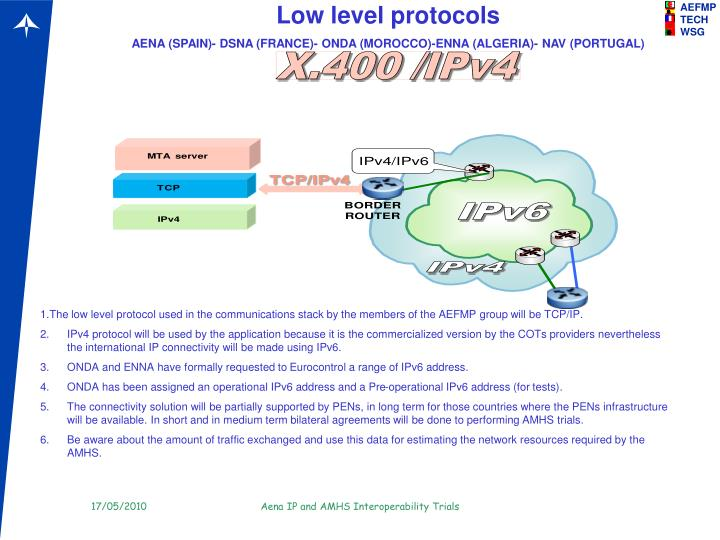 Low level protocols