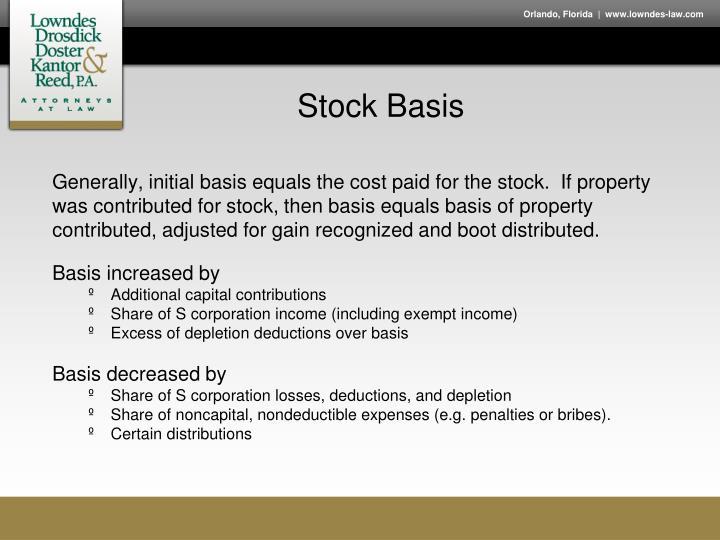 Stock Basis