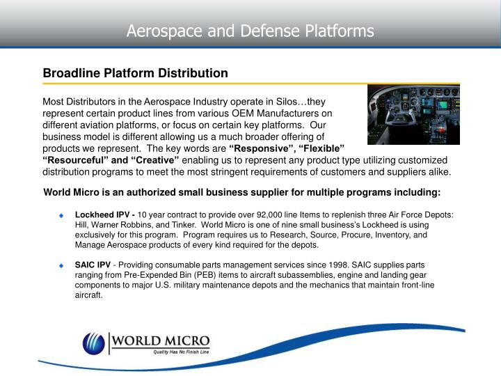 Aerospace and Defense Platforms