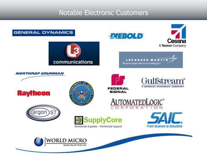 Notable Electronic Customers