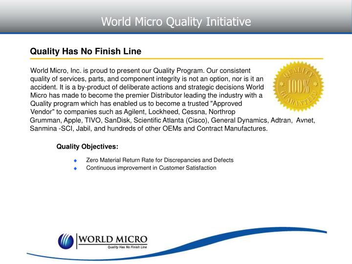 World Micro Quality Initiative