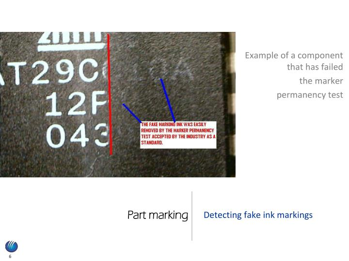 Part marking