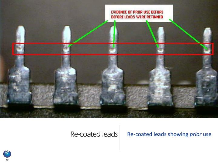 Re-coated leads