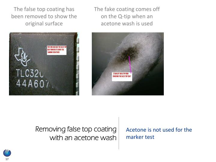 Removing false top coating