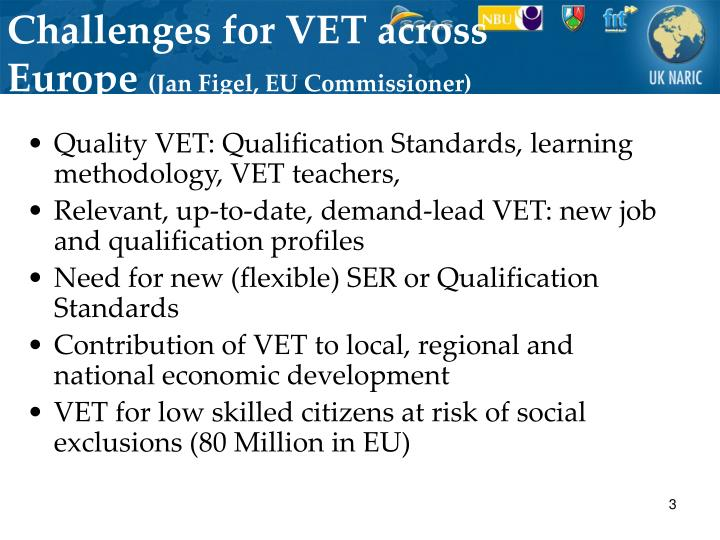 Challenges for VET across Europe