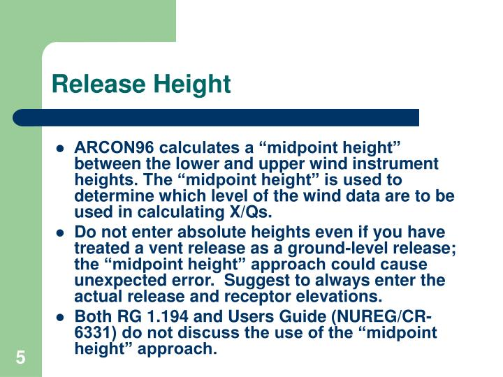 Release Height