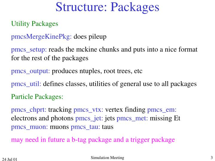 Structure: Packages