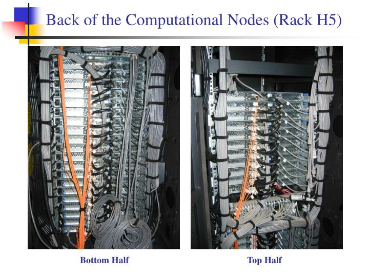 Back of the Computational Nodes (Rack H5)