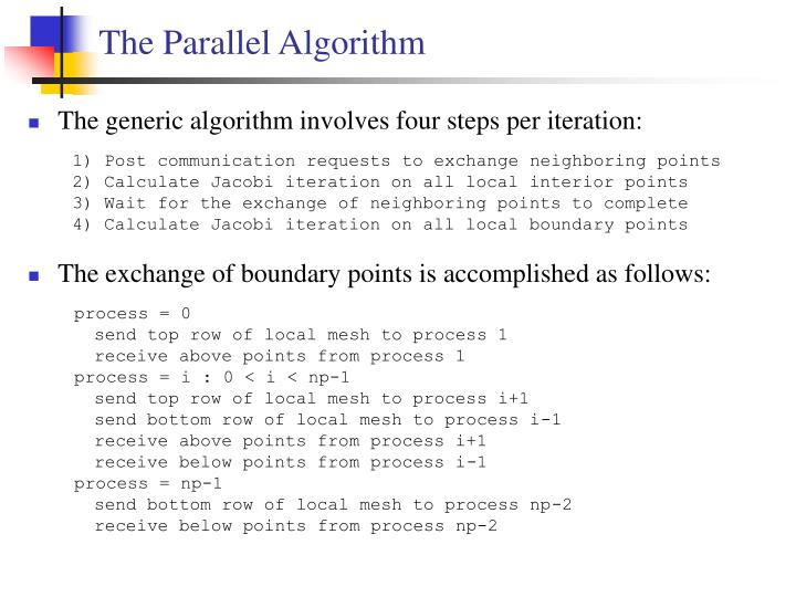 The Parallel Algorithm