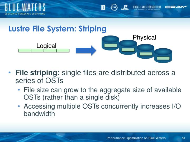 Lustre File System: Striping