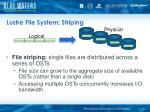 lustre file system striping