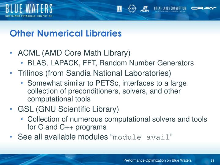 Other Numerical Libraries
