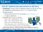 test 02 optimal job placement on 3d torus