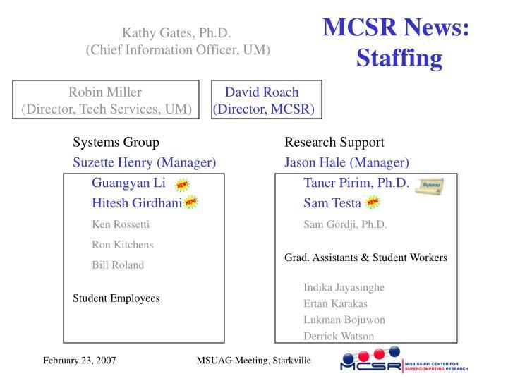 MCSR News: