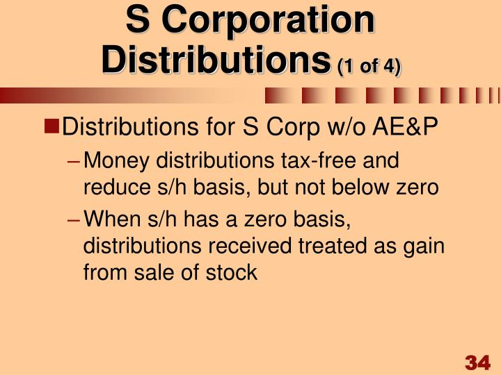 S Corporation Distributions