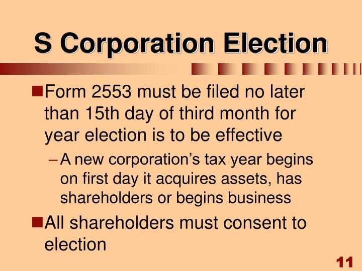 S Corporation Election