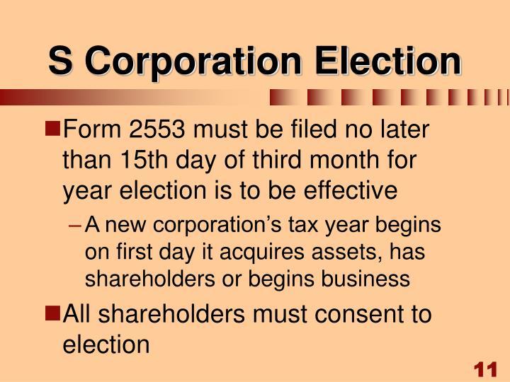 S Corporation Election