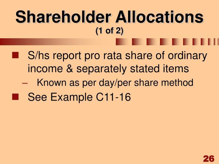Shareholder Allocations