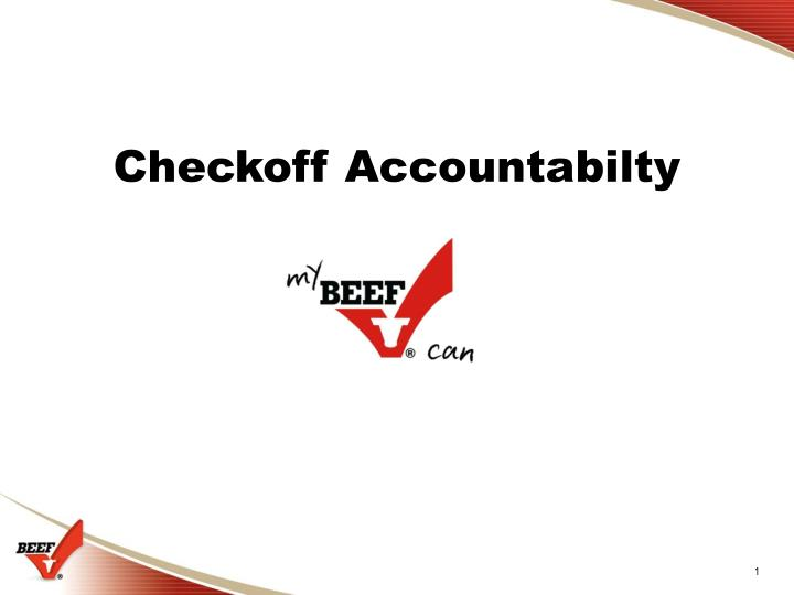 Checkoff Accountabilty