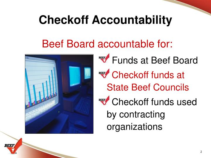 Checkoff Accountability