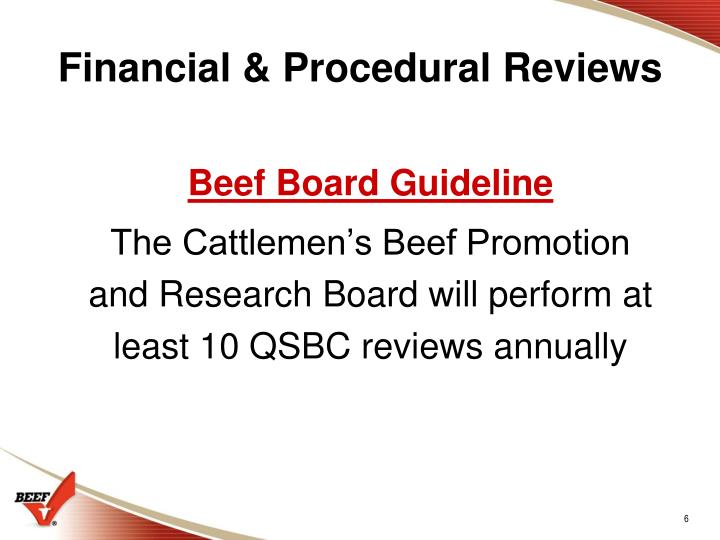 Financial & Procedural Reviews