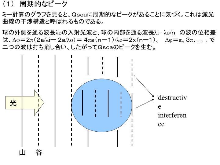 (1) 周期的なピーク