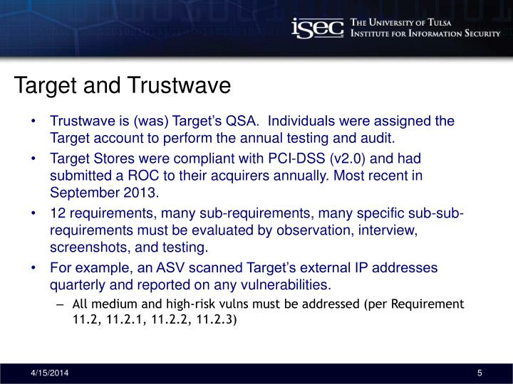 Target and Trustwave