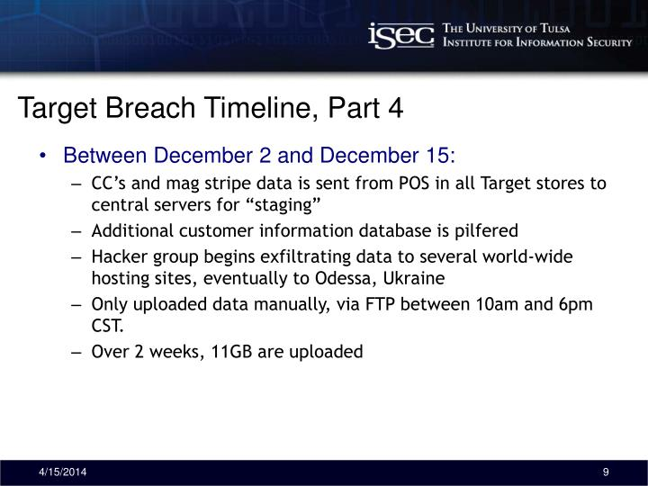 Target Breach Timeline, Part 4