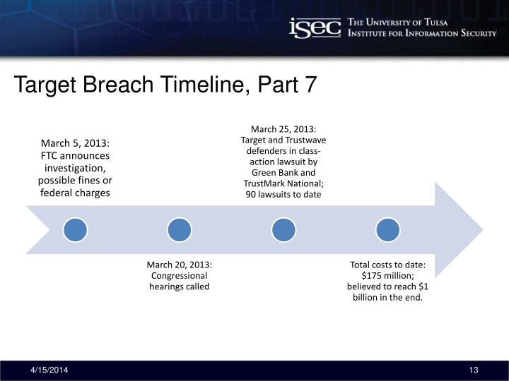 Target Breach Timeline, Part 7