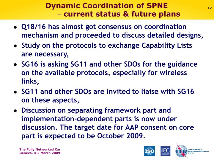 Dynamic Coordination of SPNE