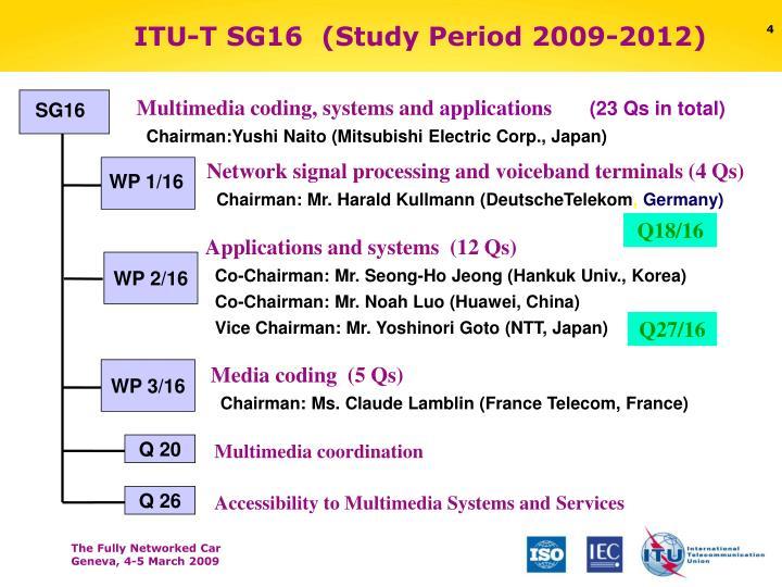 ITU-T SG16  (Study Period 2009-2012)