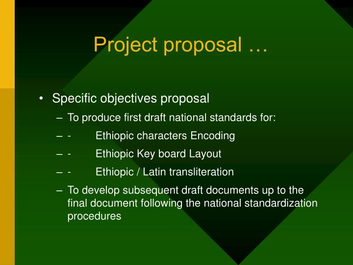 Project proposal …